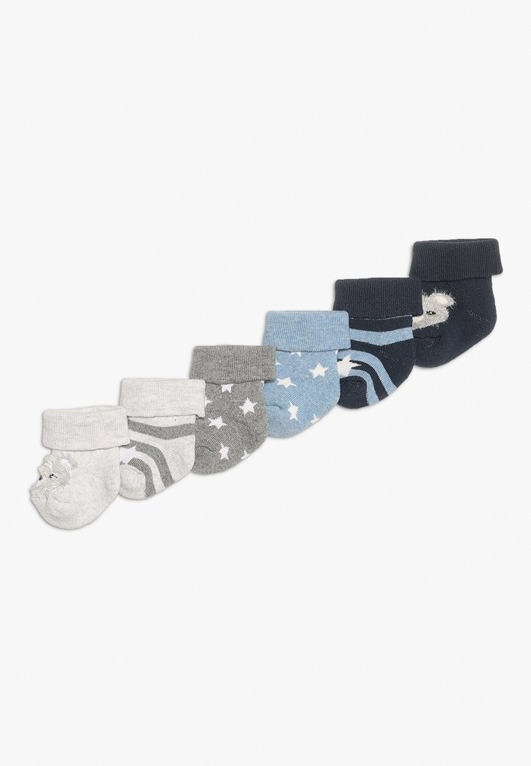 Ewers - NEWBORN BÄRCHEN STERNE 6 PACK - Socks - tinte/grau