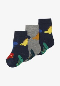 Ewers - BABY DINOS 3 PACK - Chaussettes - tinte/grau - 2