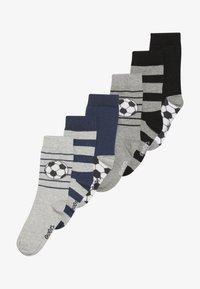 Ewers - FUSSBALL RINGEL 6 PACK  - Ponožky - schwarz/tinte - 2