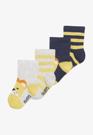 LÖWE RINGEL 4 PACK - Socks - tinte/grau