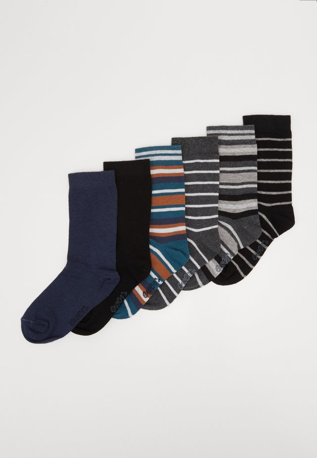 KIDS SOCKS STRIPES 6 PACK - Sokker - blau/schwarz