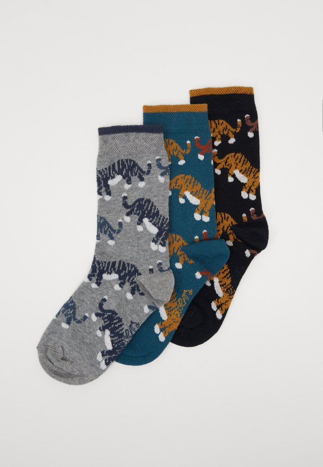 KIDS SOCKS LITTLE TIGER 3 PACK  - Sokker - grün/navy/grau