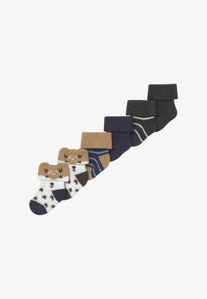 NEWBORN BOY 6 PACK - Sokken - tinte/grau