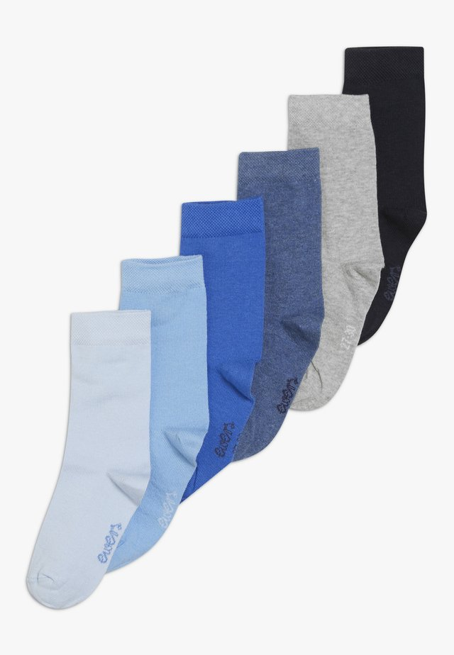 6 PACK - Strømper - blau/jeans/grau