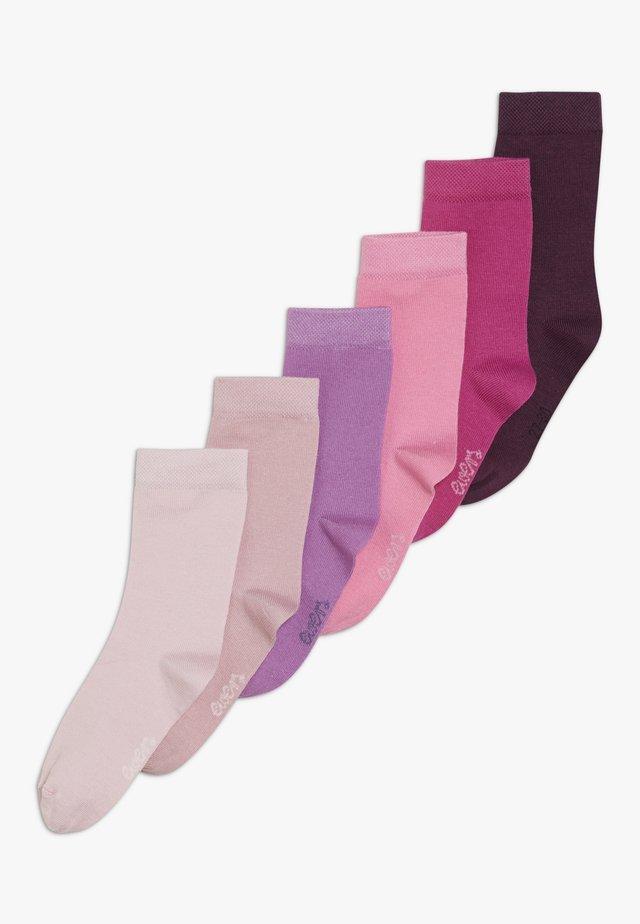 6 PACK - Strømper - rosa/pink/pflaume