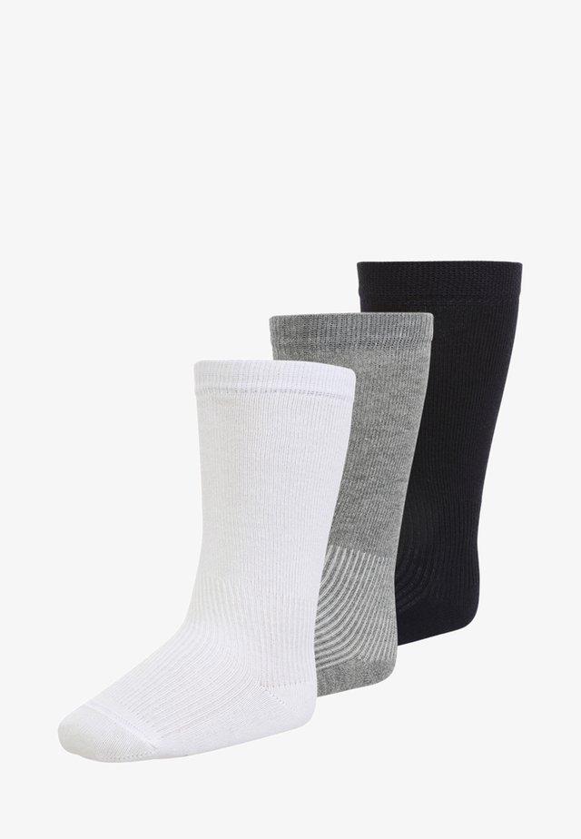 3 PACK - Knee high socks - weiß/grau meliert/marine