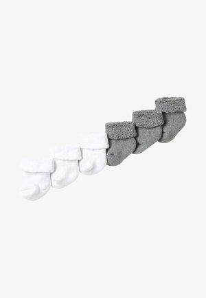 6 PACK - Calze - grau/weiß