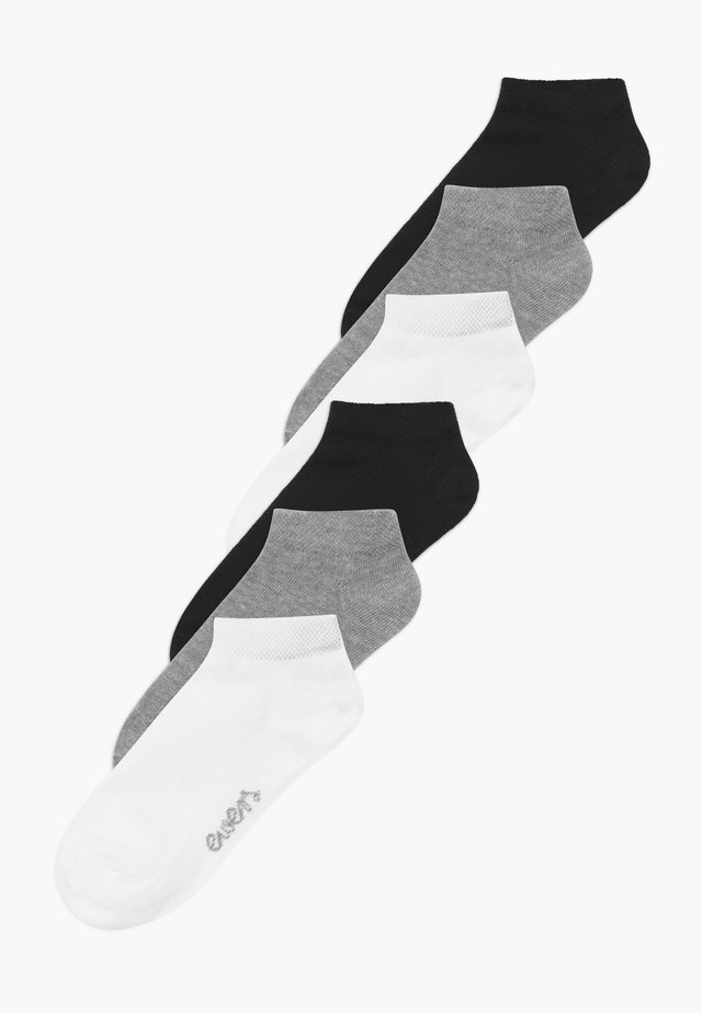 SNEAKER  MINI KIDS BASIC 6 PACK - Ponožky - weiß/grau/schwarz