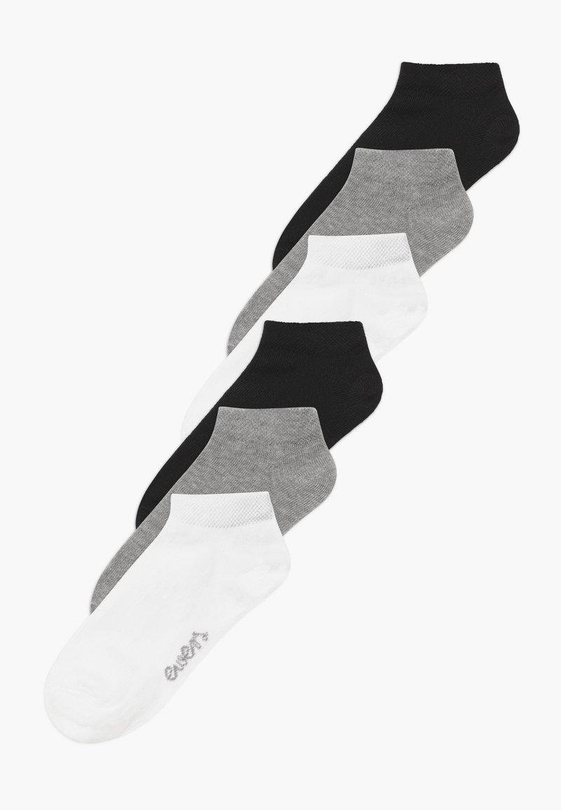 Ewers - SNEAKER  MINI KIDS BASIC 6 PACK - Chaussettes - weiß/grau/schwarz