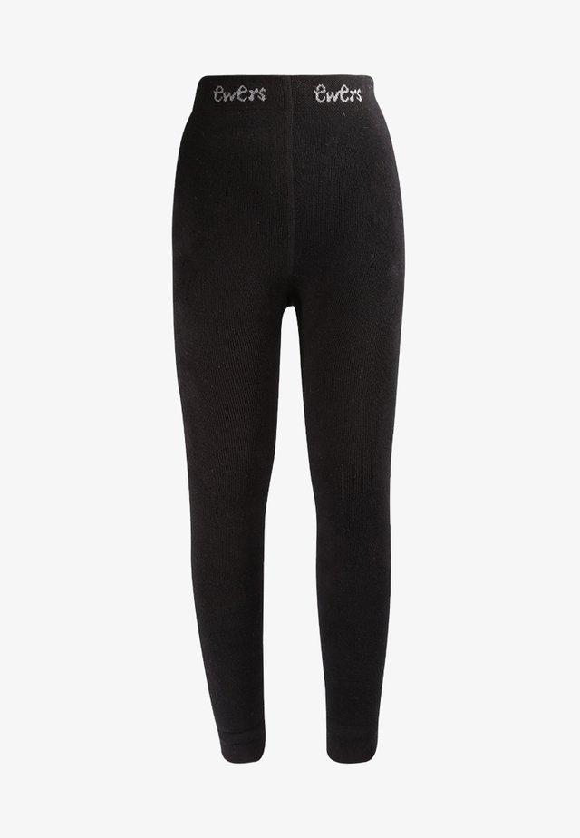 UNI MIT INNENPLÜSCH - Leggings - Stockings - schwarz