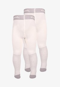 Ewers - BABYTIGHT WELCOME BABY 2 PACK - Collants - silber - 0