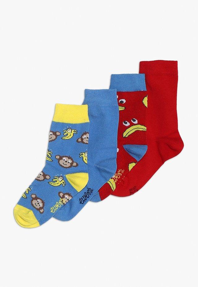 BANANE AFFE 4 PACK - Socks - rot/blau