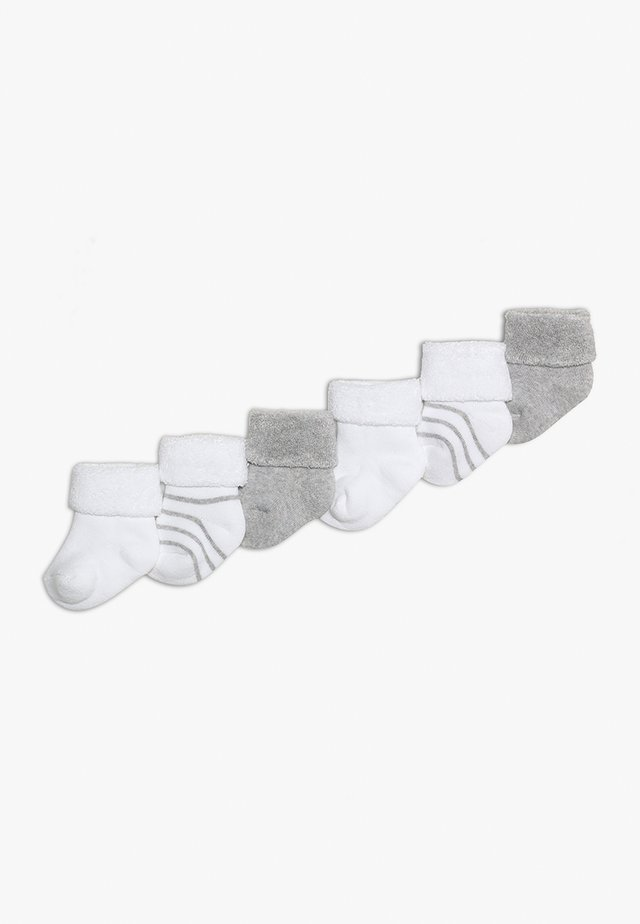 NEWBORN SOCKS RINGEL 6 PACK - Sukat - grey/white