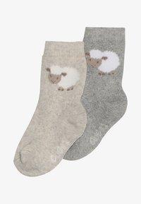 Ewers - THERMO SCHÄFCHEN 2 PACK - Ponožky - grau/latte - 2
