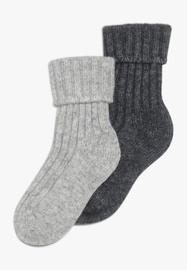 2 PACK - Sokken - anthrazit/hellsilber