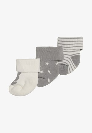 NEWBORN WELCOME BABY 3 PACK - Calcetines - silber malange