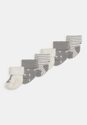 NEWBORN WELCOME BABY 3 PACK - Ponožky - silber malange