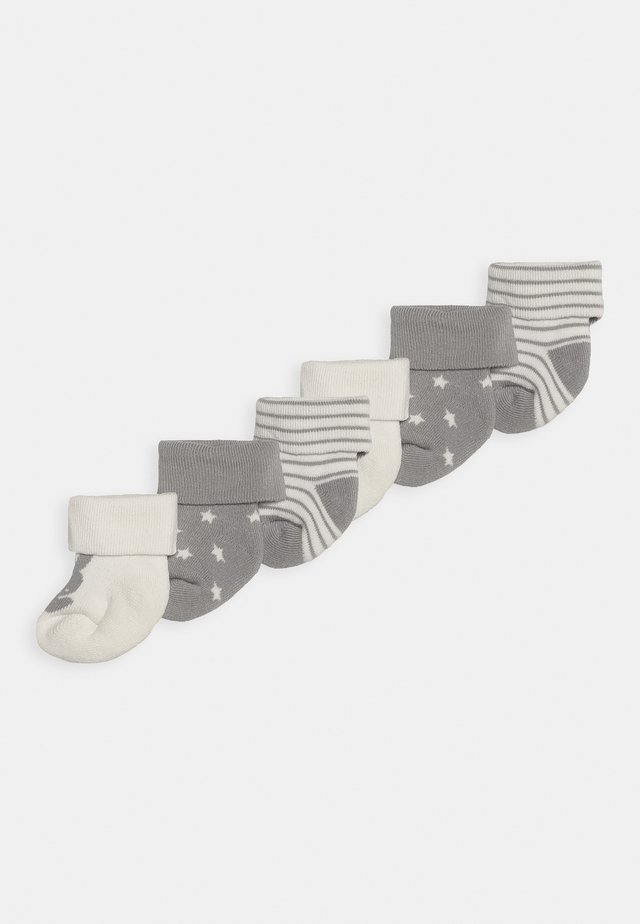 NEWBORN WELCOME BABY 3 PACK - Socken - silber malange