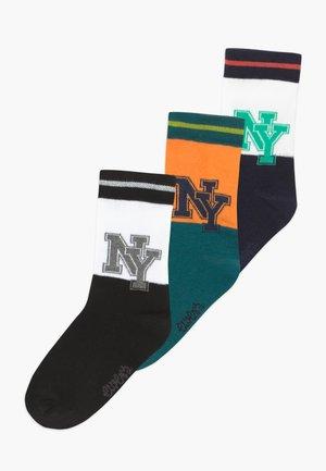 NY LABEL 3 PACK - Ponožky - schwarz/navy/jade