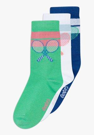 TENNISSCHLÄGER 3 PACK - Ponožky - grün/weiß/blau