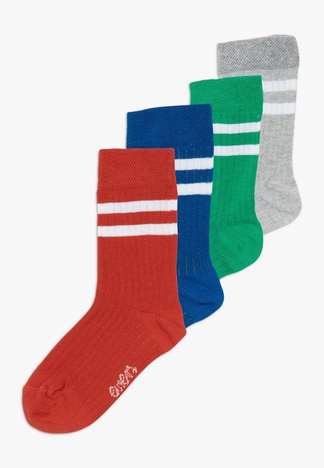 LONGSNEAKER RINGEL 4 PACK - Sokken - tinte/rot/grün/grau