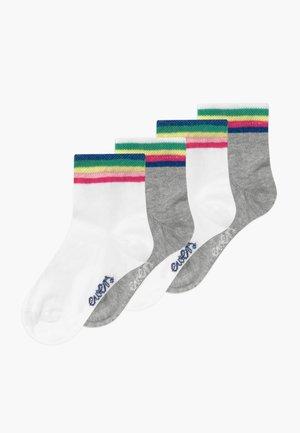 LONGSNEAKER REGENBOGEN 4 PACK - Ponožky - weiß/grau