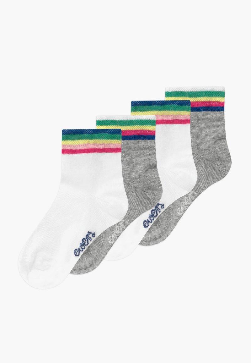 Ewers - LONGSNEAKER REGENBOGEN 4 PACK - Ponožky - weiß/grau