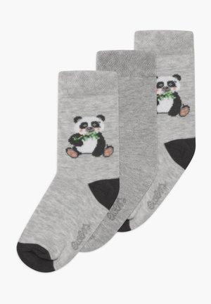 PANDA 3 PACK - Ponožky - grau