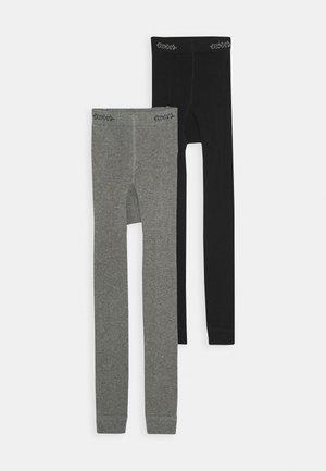 UNI 2 PACK - Legíny - schwarz/grau