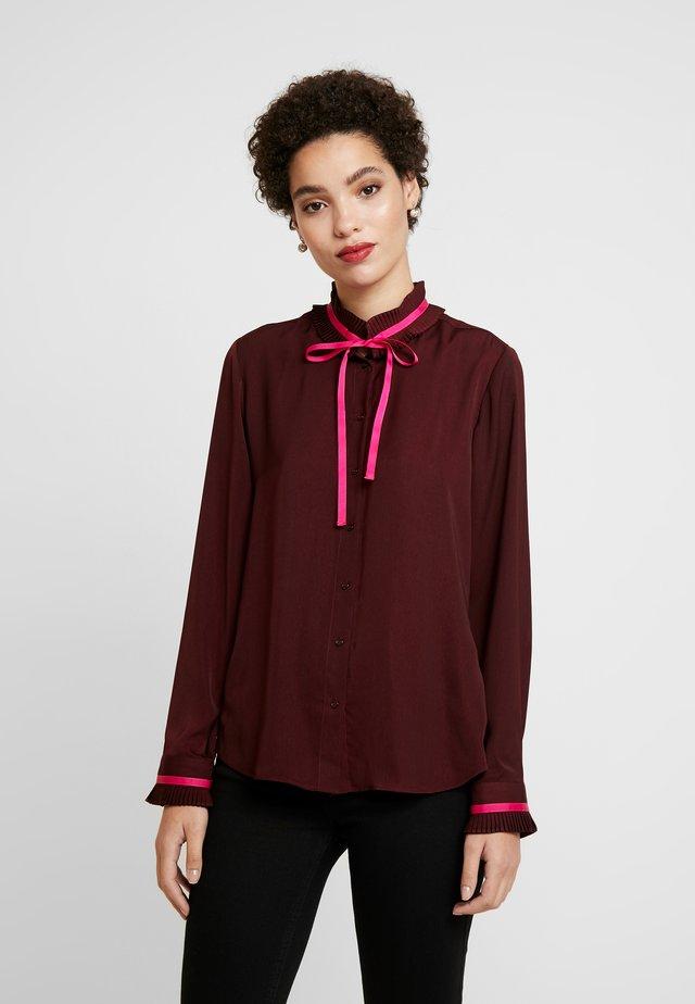 NAGALA - Button-down blouse - bordeaux
