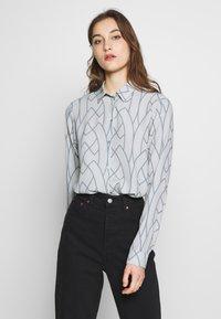 Expresso - AAGJE - Button-down blouse - hellgrau - 0