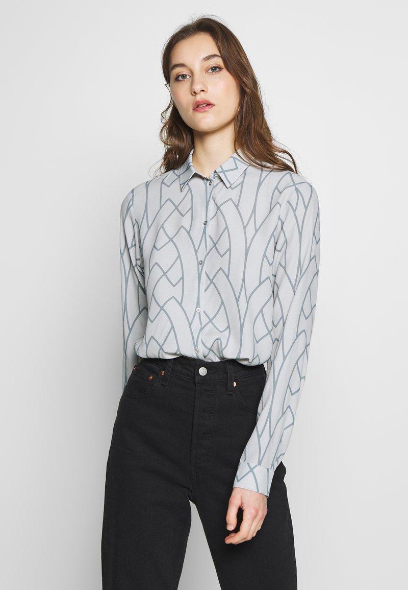 Expresso - AAGJE - Button-down blouse - hellgrau