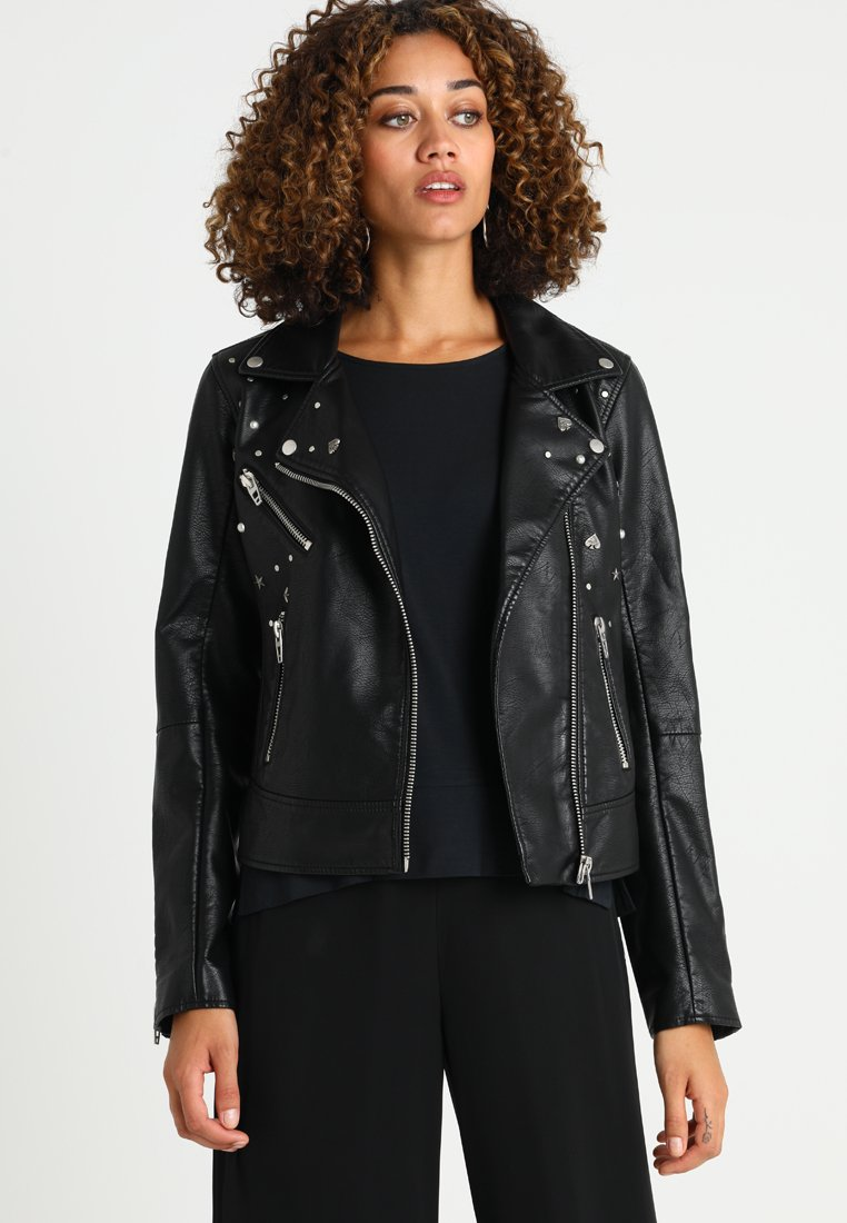 Expresso - JENIKA - Faux leather jacket - black
