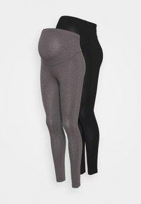 Anna Field MAMA - 2 PACK - Leggings - grey/black - 0