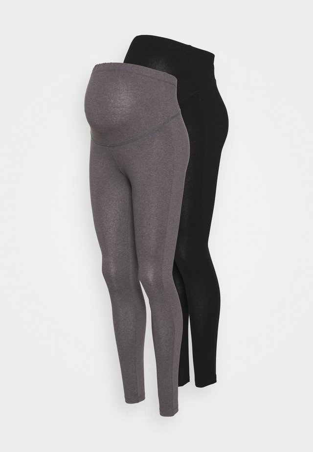 2 PACK - Legginsy - grey/black