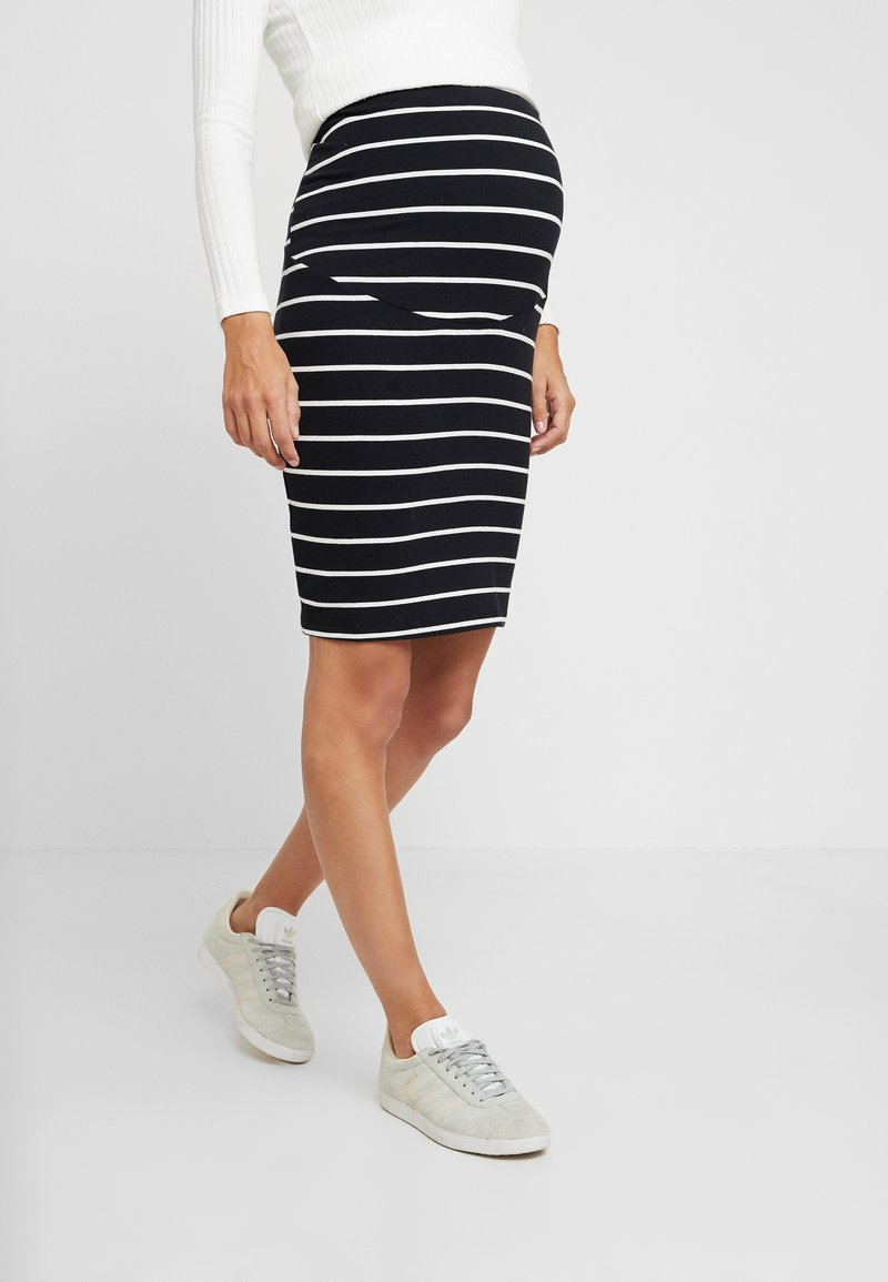 Anna Field MAMA - 2 PACK - Pencil skirt - black/off-white