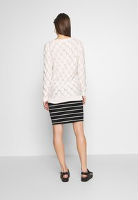 Anna Field MAMA - Pencil skirt - black off-white - 2