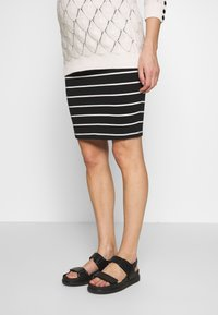 Anna Field MAMA - Pencil skirt - black off-white - 0