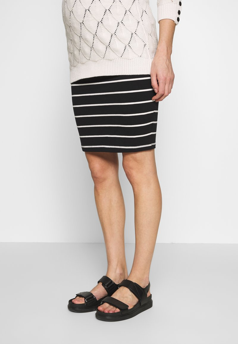Anna Field MAMA - Pencil skirt - black off-white