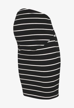 Pencil skirt - black off-white