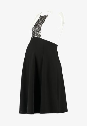 DRESS WITH FLARED - Robe en jersey - black/off-white