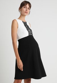 Anna Field MAMA - DRESS WITH FLARED - Jerseyjurk - black/off-white - 0