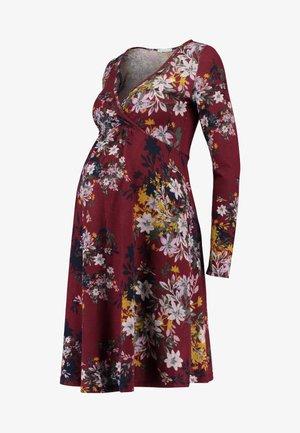 Strikket kjole - red/dark blue
