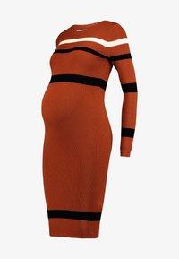 Anna Field MAMA - Pouzdrové šaty - camel - 5