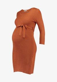 Anna Field MAMA - Pouzdrové šaty - ginger bread - 3