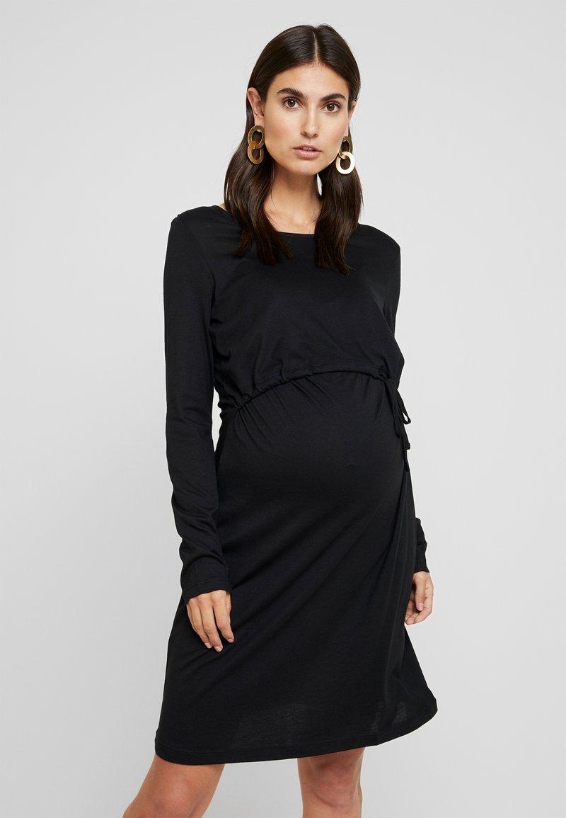 Anna Field MAMA - Vestito di maglina - black