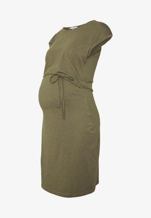 NURSING DRESS - Jerseyjurk - burnt olive