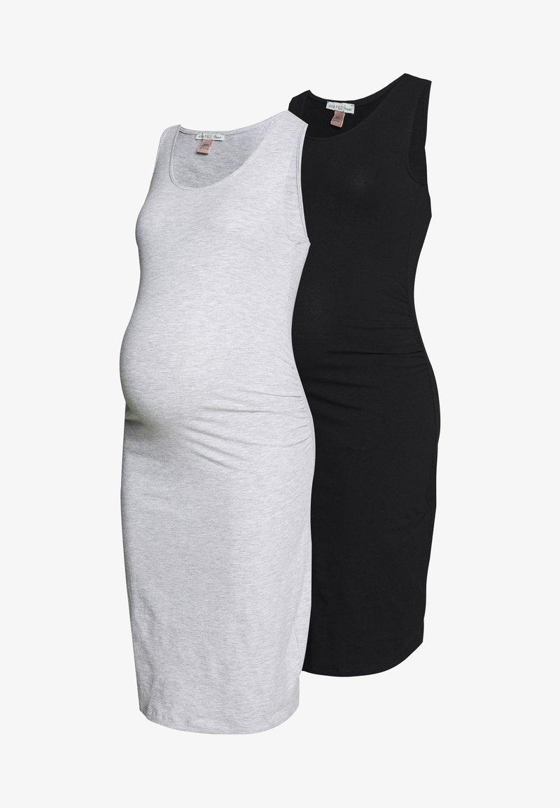 Anna Field MAMA - 2 PACK - Sukienka etui - light grey/black