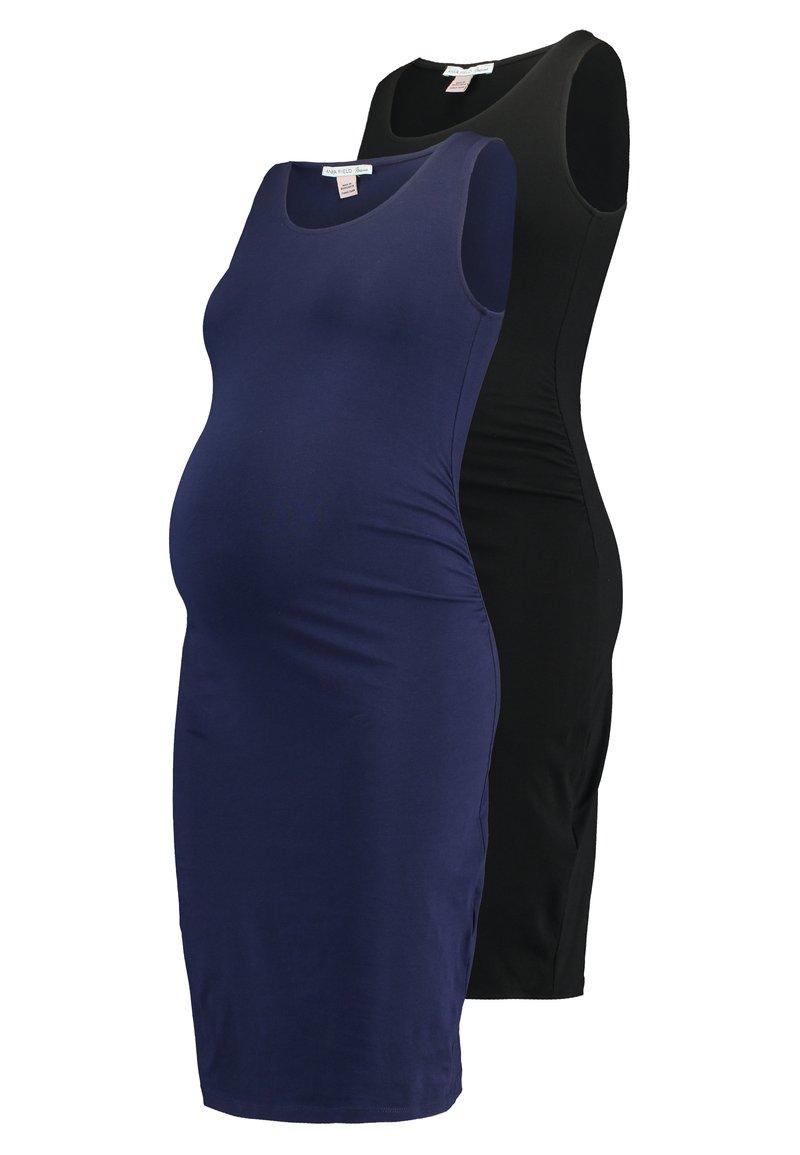 Anna Field MAMA - 2 PACK - Etui-jurk - dark blue/black