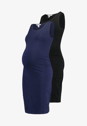 2 PACK - Fodralklänning - dark blue/black